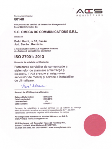 ISO 27001: 2013